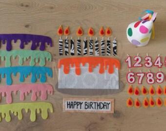 Felt Birthday Cake Kit