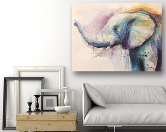 Multicolored elephant made to order format to choose