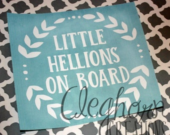 Little Hellions On Board Car Decal | Baby on Board Sticker | Baby on Board Car Decal | Baby Shower Gift | Gift for New Mom | Funny Car Decal