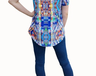 Aztec peek-a-boo top