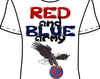 Crystal Palace 'Red and Blue Army' Design 2 T-Shirt *EXCLUSIVE DESIGN*