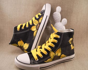 Sunflower Converse Shoes
