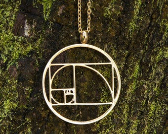 Sacred Geometry Magic - Fibonacci Spiral Necklace