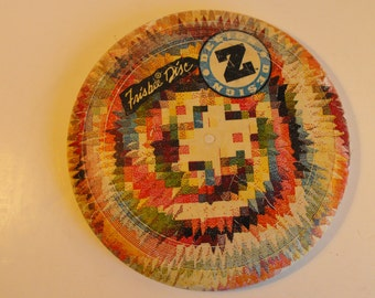 Colorful Frisbee Disc Design Z Wham-O Quilt Design     (728)