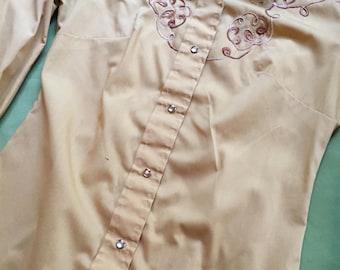 Western Mustard Cowgirl Shirt - Womens size small