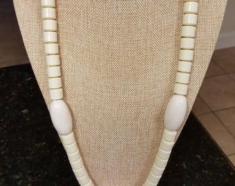 Men's Bead Necklace/ African Necklace/ elephant Tusk designed Bead Necklace.