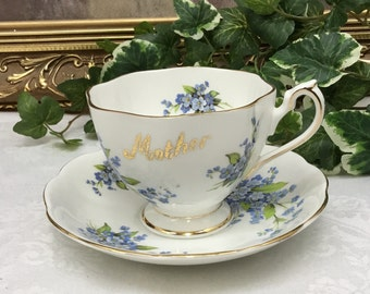 Queen Anne Mother teacup and saucer.