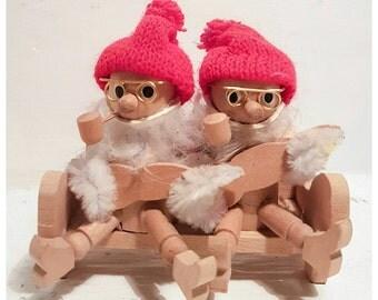Christmas gnomes, wooden gnome, Christmas decorations, Christmas ornaments, Swedish christmas, Scandinavian Christmas