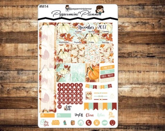 November Mini H Monthly PLanner Stickers, {#M14}