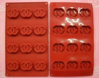 Mold silicone great décor brand 12 petit fours 28 X 17 CM