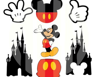 multilayer Mickey Mouse SVG, DXF , svg cutting file, .SVG for Silhouette or Cricut, svg mickey mouse, disney svg, mickey svg , castle