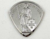Coin Guitar Pick - Switzerland 2 Franc