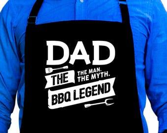 Dad: The Man, The Myth, The BBQ Legend Apron