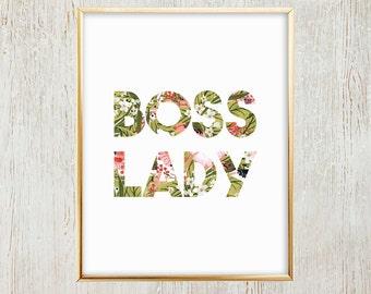 Boss Lady Printable Wall Art/Decor