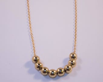 Gold Bead Layer Necklace, Everyday Necklace for women, Gift for her, Layered Necklace for women