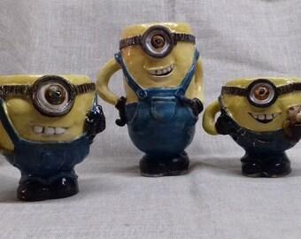 Minion mugs and cups, ceramic