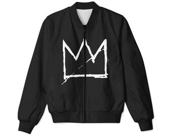 Basquiat Crown bomber jacket black, all sizes