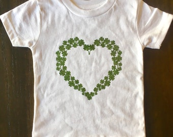 Saint Patrick's Day Outfit - St. Patty's Day Shirt for Baby - St. Patrick's Day Shirt - Shamrock Shirt - Four Leaf Clover Shirt