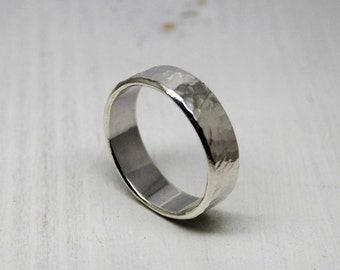 Sterling Silver Dimple Hammered Ring