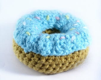 Crocheted Donut - Play food - Nursery - Preschool - Educational Toys- Learning - Teething - Games - Childrens - Toddler - doughnut