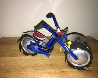 RECYCLED ART Aluminum soda can Motorcycle Airplane Car three wheel Bicycle tricycle
