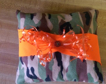 Camoflauge Ring Bearer Pillow