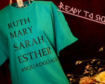 Women of the Bible Squad Goals tee. Size M