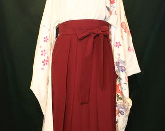 Dark red hakama