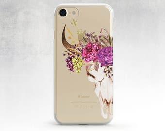 Iphone 6 Plus Case Floral Skull Iphone 7 Case Galaxy S6 Case Samsung Note 5case Samsung Note 4 Case Skull Flower, Iphone 6 Case Samsung S5