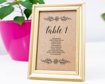 Wedding Seating Chart Template, Wedding Seating Cards, Seating Plan, Seating Cards, Table Cards, PDF Instant Download, WPC_149