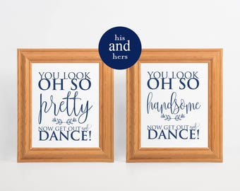 Navy Blue Wedding Bathroom Signs, Men's Bathroom Sign, his and hers bathroom signs, wedding sign, womens and mens restroom, WPC_909