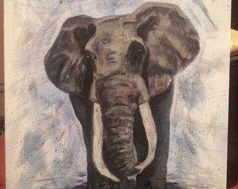 Elephant original painting