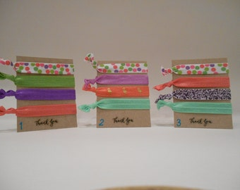 Pastel Polka Dot Ponytail Holders