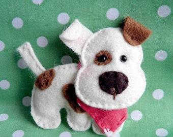 Felt dog ornament Handmande felt ornaments Puppy Friend Gift for Her  Christmas Housewarming home decor Baby shower ornaments Birthday gift