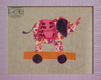 BABY ELEPHANT, ELEPHANT DM Board for children, child, picture bedroom baby, fabric, fabric