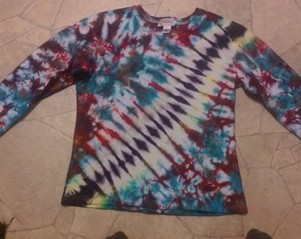 Long sleeve stripe tie dye