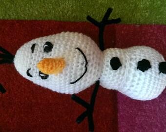 Olaf doll, snowman amigurumi, olaf from frozen movie, amigurumi toy, handmade toy, crochet snowman