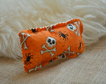 Catnip Toys - Catnip Kick Boxer Bags Orange Skull Catnip & Silvervine Cat Toy - Two Toys in a Pack