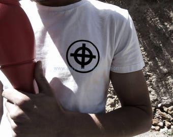 Sun Cross Croix de Soleil on T-Shirt