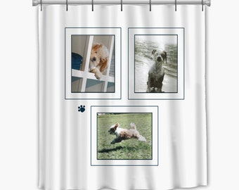 pets customized shower curtain with your pictures available