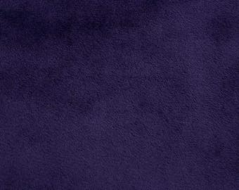 Shannon Minky Fabric, Shannon Cuddle Minky Fabric, Eggplant Cuddle Minky, Eggplant Minky, Purple Cuddle Minky, Minky Fabic By The Yard