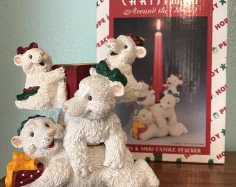 SALE!!! Set of Christmas Candle Holders by House of Lloyd - Christmas Around The World - Sasha & Nikki Candle Stacker