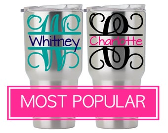 Personalized Tumbler Decal for RTIC Tumbler 30 oz, RTIC Tumbler 20 oz, SIC Cup, Ozark Trail Tumbler Decal, Ozark Trail Decal for Women 5LN2A