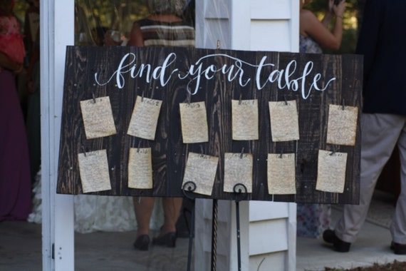 Find Your Table Pallet Wedding Sign