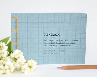 recycled notebook, Upcycling notebook, sketchbook, notebook, notebook A6, notebook, skechbook, recycled notebook, idea book