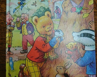 Vintage 1980 First Edition Rupert The Bear The Daily Express Annual BoutiqueByDanielle