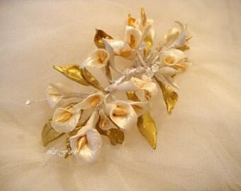 Pik dorada-diadema - DIAdem of flowers-vintage style-Pik flores-tocados - romantic style novia-corona - novia-tocados