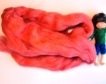 salmon merino wool, needle felting wool, wet felting wool, merino wool tops, wool for felting, wool for spinning, soft sculpture merino uk