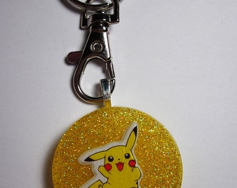 "POKEMON Pikachu Resin Charm Keychain [1.5""] (Yellow)"