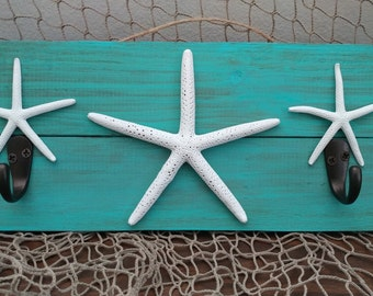 Starfish Wall Hook Plaque
